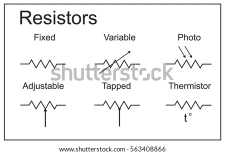 Electric Circuit Elements Resistors Stock Vector 563408866