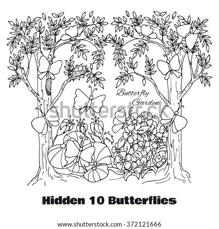 Hidden Objects Location Find Objects Vector Stock Vector