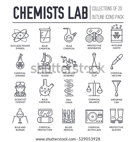 Scientific Icons Stock Images, Royalty-Free Images