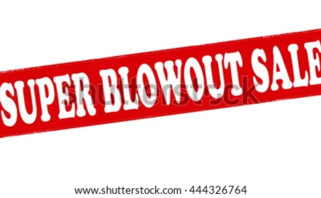 Rubber Stamp Text Blow Out Sale Stock Vector 235184674