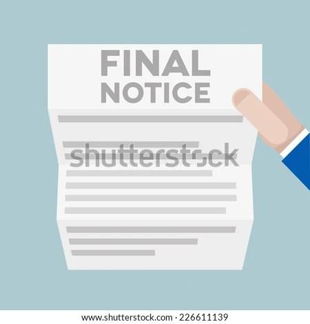 Detailed Illustration Hand Holding Letter Final Stock Vector ...