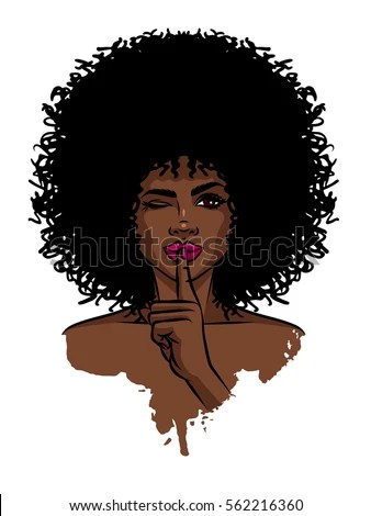 Cute Dimple Baby Wallpaper Young Sexy Dark Skinned Women Afro Stock Vector 562216360