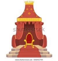Red and Gold Royal Chair - stock vector