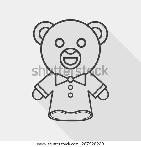 Teddy Bear Puppet Coloring Pages