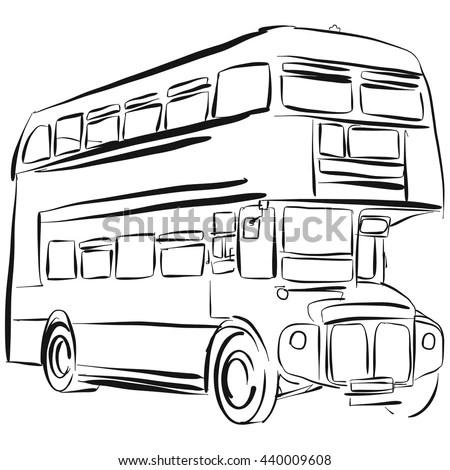 Schematic Illustration Volvo Truck Stock Illustration