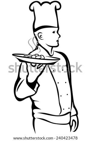 Vector Illustration Cartoon Knight Holding Shield Stock