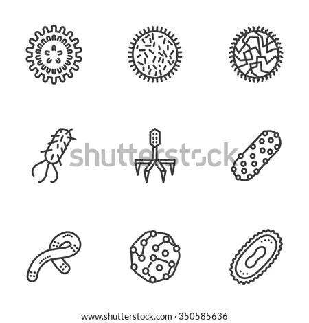 Samples Bacteria Virus Microbiology Virology Science Stock