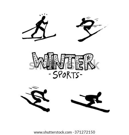 Skateboard His Feet Sneakers Jeans Stock Vector 51656500