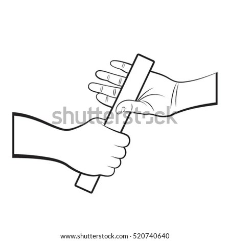 Relay Race Baton Clip Art Free Sketch Coloring Page