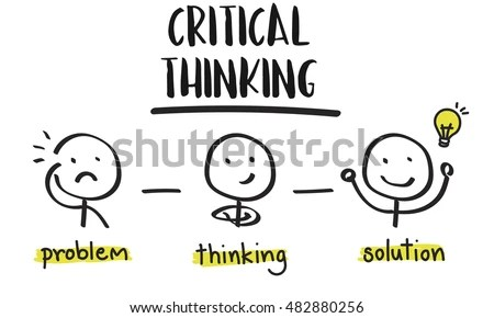 Critical Thinking Creative Brainstorm People Concept Stock