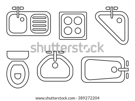 Floorplan Icons Stock Images, Royalty-Free Images