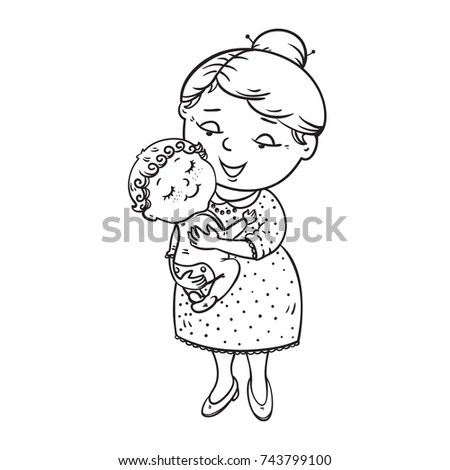 Father Daughter Hugging Stock Illustration 107098382