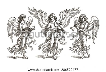 Angel With Flute Stock Images, Royalty-Free Images