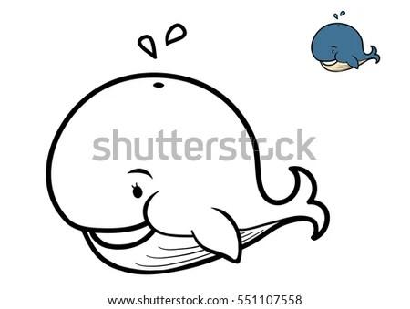 Cute Cartoon Sea Mammals All Different Stock Vector