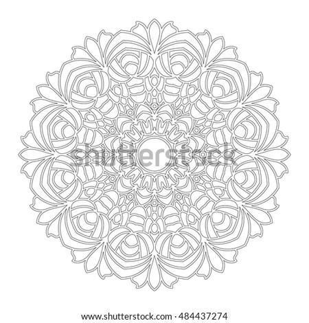 Lacy Hand Drawn Hexagon Pattern Adult Stock Illustration