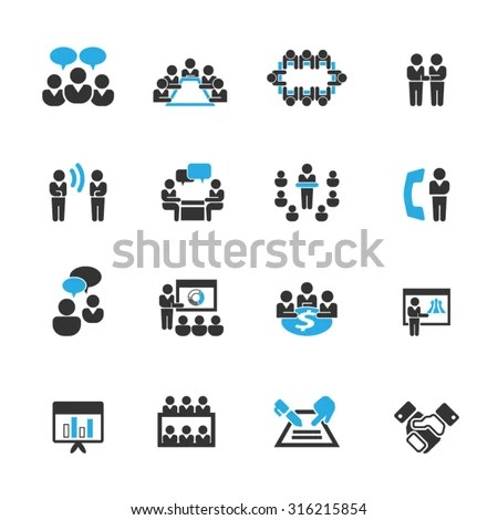 Meeting Icon Stock Images, Royalty-Free Images & Vectors