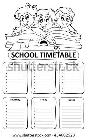 School Timetable Stock Images, Royalty-Free Images