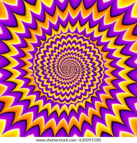 Hd Moving Wallpapers For Desktop Yellow Orange Purple Background Moving Sphere 库存矢量图