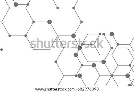 Vector Molecule 3d Paper Label Integrated Stock Vector