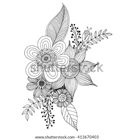 Flower Doodle Stock Images, Royalty-Free Images & Vectors