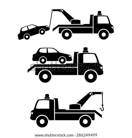 Car Towing Truck Iconvector Stock Vector 286249499