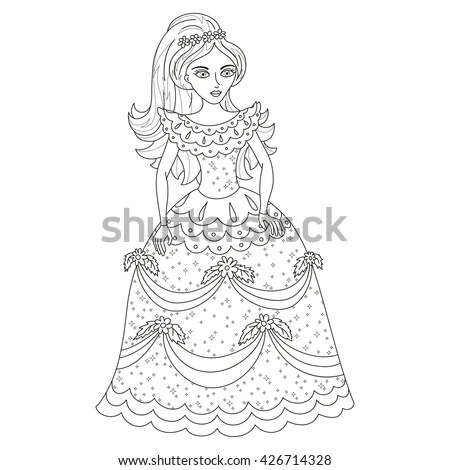 Mermaid On Seabed Page Sea Life Stock Vector 731826688