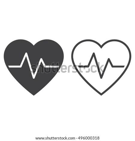 Heartbeat Echocardiography Cardiac Exam Form Heart Stock