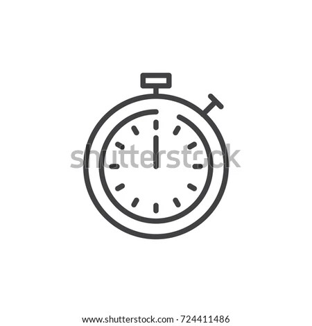Timer Line Icon Outline Vector Sign Stock Vector 724411486