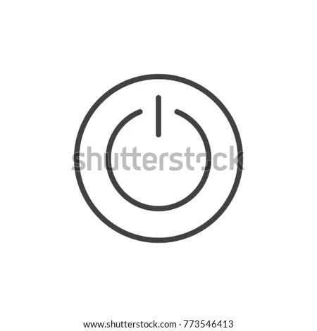 Power Switch Line Icon Outline Vector Stock Vector