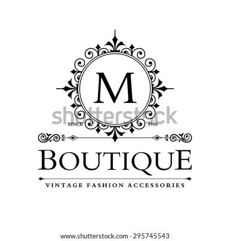 M Letter Logo Monogram Design Elements Stock Vector