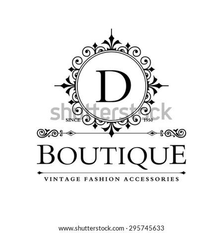 D Letter Logo Monogram Design Elements Stock Vector