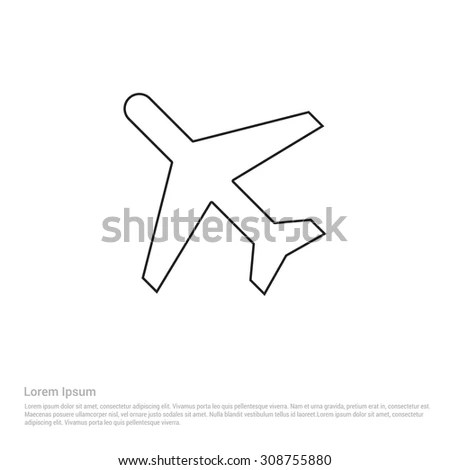 Airplane-outline Stock Images, Royalty-Free Images
