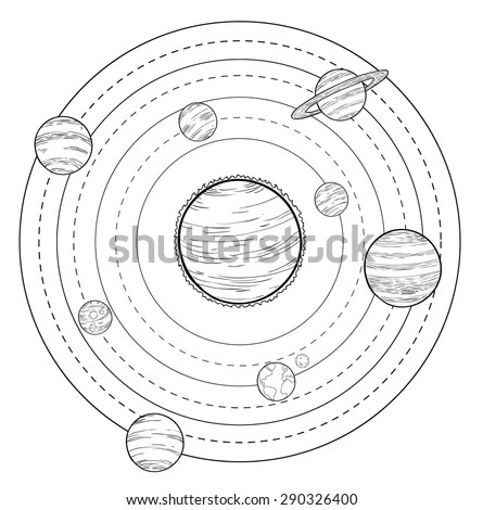 Diagram Of The Planets In Black And White Wiring Diagram
