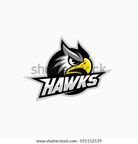 Hawk Mascot Sport Team Vector Illustration Stock Vector