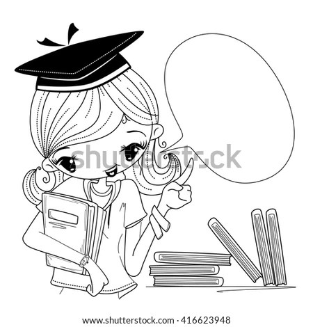 Graduation Girl Cartoon Stock Images, Royalty-Free Images