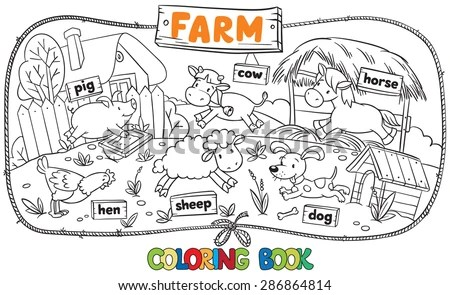 Watercolor Farm Animals Stock Images, Royalty-Free Images