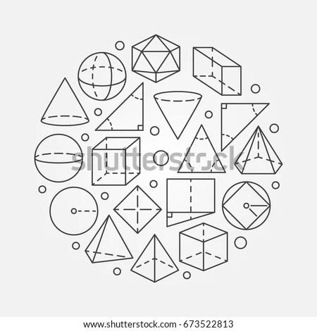 Geometry Mathematics Illustration Vector Concept Round