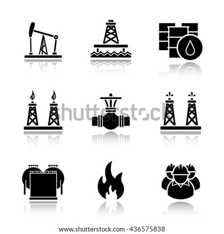 Oil Platform Icon Stock Images, Royalty-Free Images