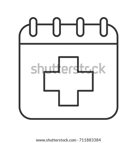 Appointment Icon Such Medical Day Calendar Stock Vector