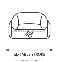 Pet Bed Linear Icon Thin Line Stock Vector 768275773 ...
