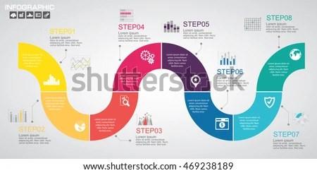 agile process flow diagram split ac wiring timeline infographics design template options stock vector 469238189 - shutterstock