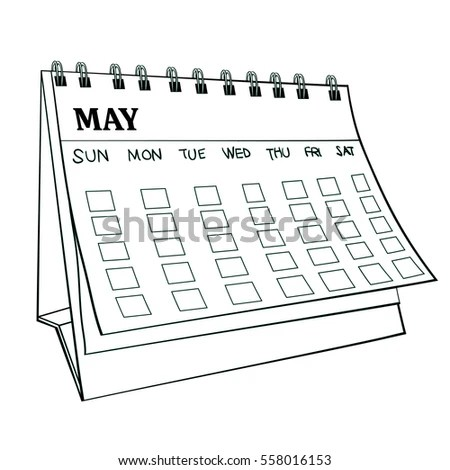 May Calendar Stock Images, Royalty-Free Images & Vectors