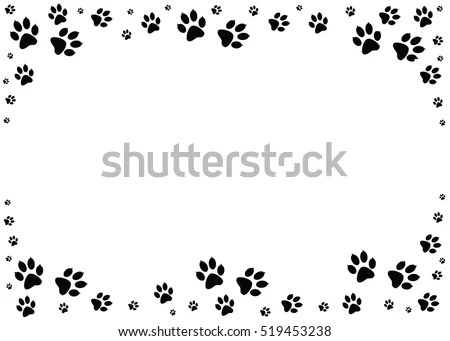 Paw Border Stock Images, Royalty-Free Images & Vectors