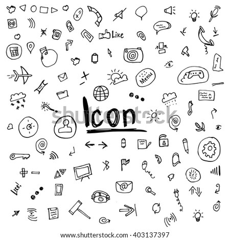 Doodle Icons Stock Images, Royalty-Free Images & Vectors