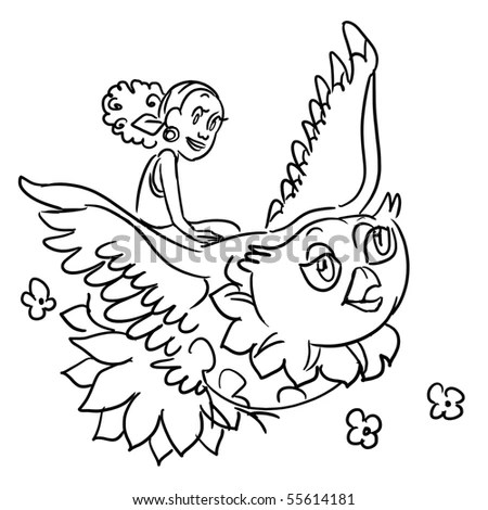 Cute Birds Nest Coloring Page Stock Vector 289221488