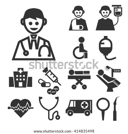 Medical Health Care Icons Set 1 Stock Vector 380914690
