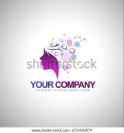 beauty female face logo designcosmetic