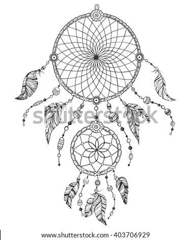 Vector Hand Drawn Black White Illustration Stock Vector