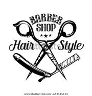 barbershop logo stock royalty-free