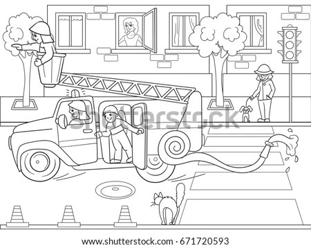 Fire Engine Pattern For Kids Fire Tools Wiring Diagram